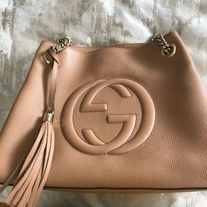 Authentic Gucci Soho Chain Strap Shoulder Handbag